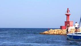 Vergnügungsdampfer in Hafen-EL Kantaoui Tunesien Sousse stock video