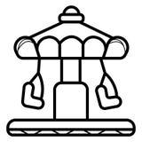 Vergnügungspark-Ikonenvektor lizenzfreie abbildung