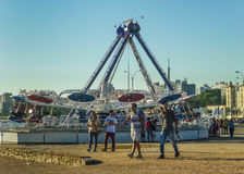 Vergnügungspark in Montevideo stockfoto