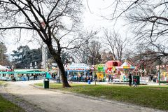 Vergnügungspark in Parco Sempione in Mailand lizenzfreie stockbilder
