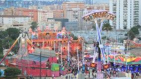 Vergnügungspark in Spanien stock video