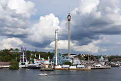 Vergnügungspark in Stockholm Stockfoto