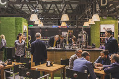 Vergnano stand at Tuttofood 2015 in Milan, Italy Royalty Free Stock Photography