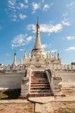 Vergoelijkte boeddhistische pagode, Inwa, Birma Royalty-vrije Stock Afbeeldingen