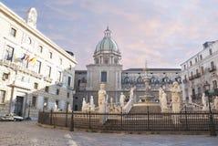 Vergogna quadrata a Palermo Fotografia Stock
