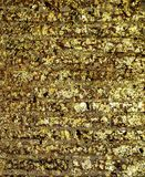 Vergoldender Tempel auf Wandhintergrund stockfoto