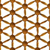 Vergoldete Blume des Leben-Musters Lizenzfreies Stockbild