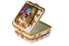 Vergoldete dekorative Schatulle Lizenzfreie Stockfotos