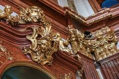 Vergoldete Skulptur im oberen Belvedere in Wien, Österreich Lizenzfreie Stockfotografie