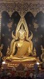 Vergoldetes Buddha-Bild in Thailand Lizenzfreies Stockbild