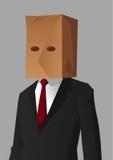 Vergonha do homem de negócios Imagem de Stock Royalty Free