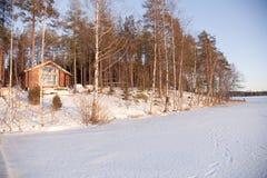 Vergrößerung eines Sommer-Hauses Stockbild