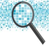 Vergrößerungsglas analysieren Stockfotografie