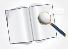 Vergrößerungsglas und Planzeitschrift Lizenzfreies Stockbild