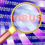 Vergrößerungsglas - Virus Lizenzfreies Stockfoto