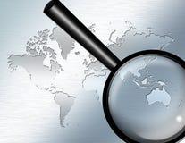 Vergrößern Sie Glasfokus auf Australien Lizenzfreies Stockbild