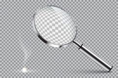 Vergrootglas beginnende brand Vectorillustratie op geïsoleerd op transparante achtergrond royalty-vrije illustratie
