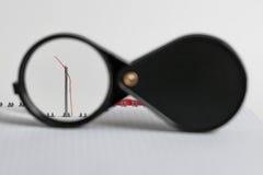 Vergrootglas in een kader Stock Afbeeldingen
