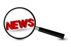 Vergrootglas met Nieuws stock illustratie