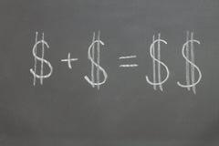 Vergroting van Financiën Stock Foto