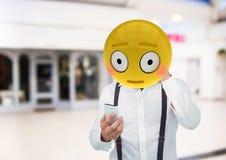 vergu|enza Emoji hace frente ilustración del vector