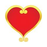 Verguld hart Stock Foto's