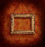 Vergulde omlijsting op antiek behang Royalty-vrije Stock Fotografie