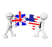 Verhältnis Englands - USA Stockfoto