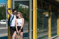 Verhältnis-Konzept mit nettem Freund und Freundin Lizenzfreie Stockfotografie