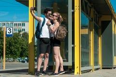 Verhältnis-Konzept mit nettem Freund und Freundin Stockfoto