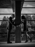 Verhältnis, Mann und Frau, städtisches Thema stockfotos