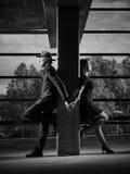 Verhältnis, Mann und Frau, städtisches Thema lizenzfreie stockfotos