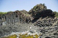 Verhärtete Lava des schlafenden Vulkans Lizenzfreies Stockfoto