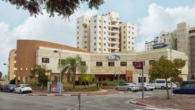 2-verhaal de bouw van Maccabi-de Gezondheidszorgdiensten in Holon Royalty-vrije Stock Afbeeldingen