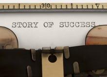 Verhaal van Succes stock foto