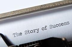 Verhaal van Succes royalty-vrije stock foto's