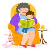Verhaaltijd met Oma stock illustratie