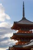 3 verhalenpagode in kiyomizu-Dera, Kyoto, Japan Royalty-vrije Stock Foto's