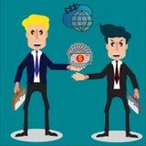 Verhandlungen des internationalen Handels des Konzeptes mit Geschäftsmann zwei Stockfotografie