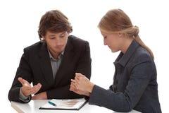 Verhandlungen im Finanzsektor Stockbild