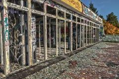 Verheerend, zerstört dem Hotelkorridor Lizenzfreies Stockfoto