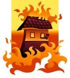 Verheerendes Feuer Stockfoto