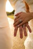 Verheiratete Hände Stockfotos