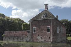 Verhildersum castle with moat Stock Photos