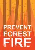 Verhindern Sie Waldbrand Lizenzfreie Stockfotografie