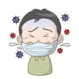 Verhinderung der Grippe und der Kälte - Junge vektor abbildung