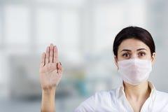 Verhinderungszeichen Ärztin Lizenzfreie Stockbilder