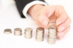 Verhoging van inkomen Royalty-vrije Stock Foto's