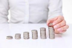 Verhoging van inkomen royalty-vrije stock afbeelding