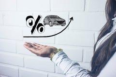 Verhoging van rente op autoleningen Royalty-vrije Stock Foto's